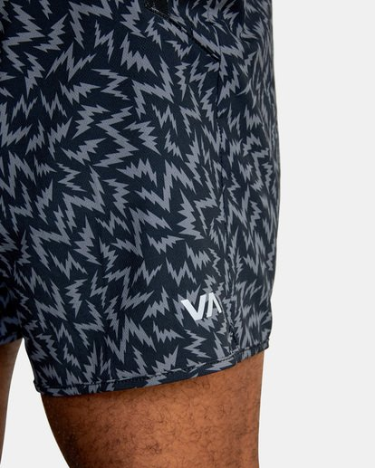 "2 Matt Leines | VA Sport x Leines Yogger Stretch Athletic Shorts 17"" Black AVYWS00150 RVCA"