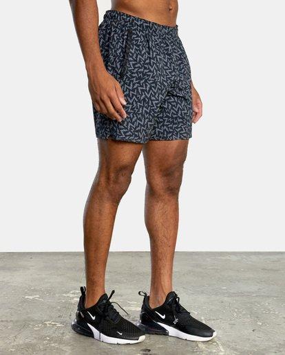"5 Matt Leines | VA Sport x Leines Yogger Stretch Athletic Shorts 17"" Black AVYWS00150 RVCA"