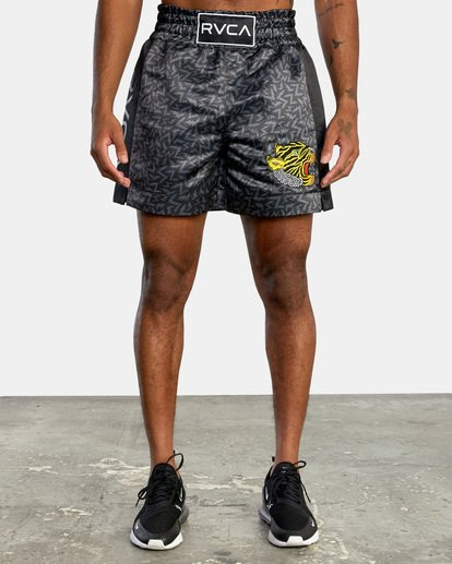 "0 Matt Leines | VA Sport Leines Boxing Shorts 17"" Black AVYWS00151 RVCA"