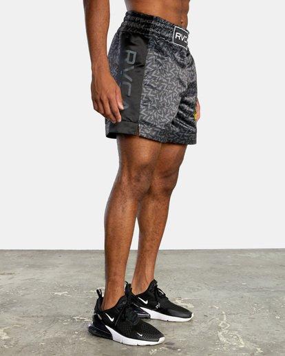 "5 Matt Leines | VA Sport Leines Boxing Shorts 17"" Black AVYWS00151 RVCA"