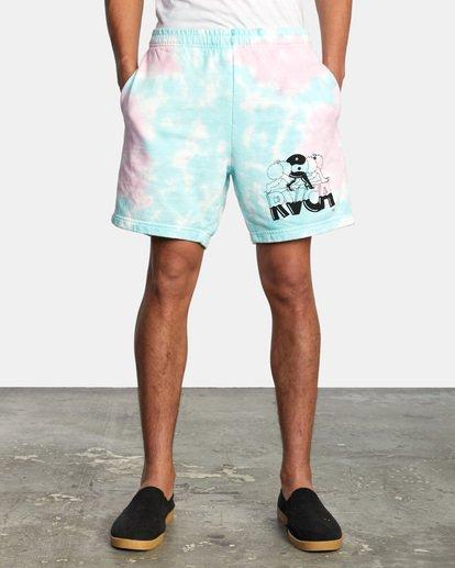 1 Jesse Lortz | RVCA x Jesse Lortz Elastic Shorts White AVYWS00170 RVCA