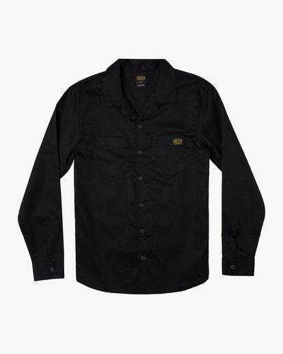 0 Day Shift Long Sleeve Shirt Orange AVYWT00127 RVCA