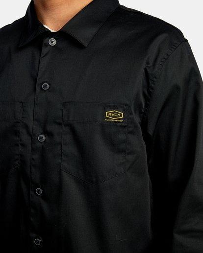 3 Day Shift Long Sleeve Shirt Orange AVYWT00127 RVCA