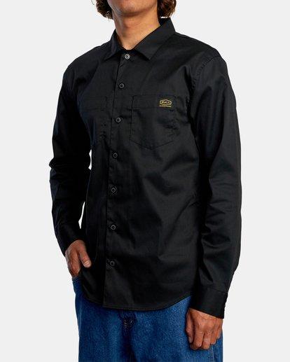 4 Day Shift Long Sleeve Shirt Orange AVYWT00127 RVCA
