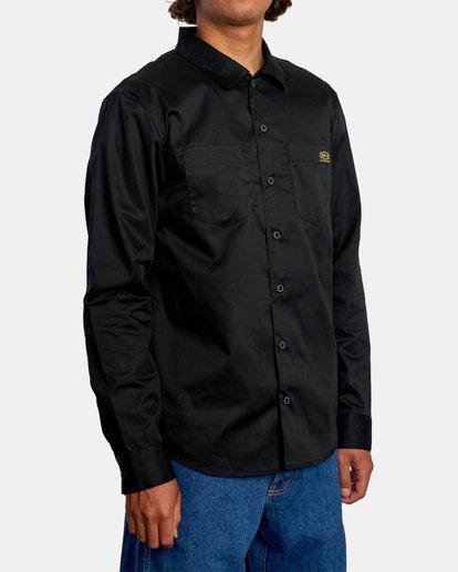 5 Day Shift Long Sleeve Shirt Orange AVYWT00127 RVCA