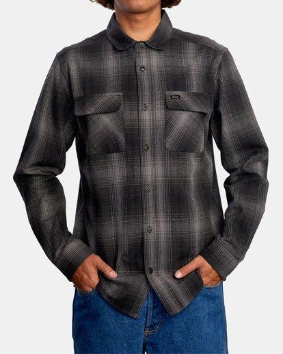 1 Vesuvio Long Sleeve Flannel Shirt Black AVYWT00169 RVCA