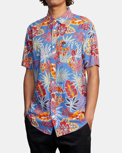 3 Singapore Sling Floral Short Sleeve Shirt Orange AVYWT00180 RVCA