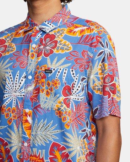 5 Singapore Sling Floral Short Sleeve Shirt Orange AVYWT00180 RVCA