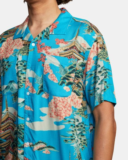 4 Kyuka Short Sleeve Shirt Brown AVYWT00191 RVCA