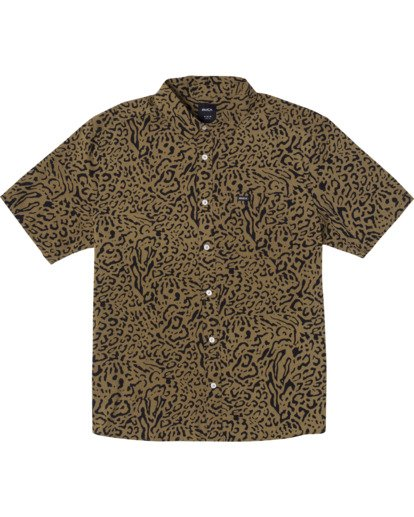 1 Strangers Short Sleeve Shirt Green AVYWT00193 RVCA