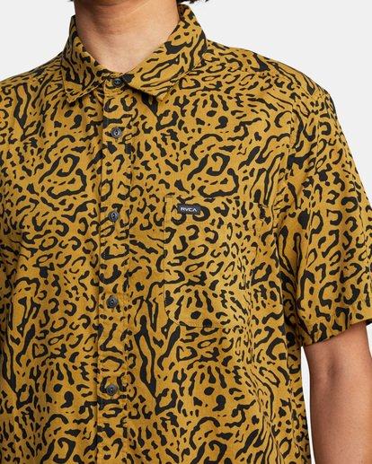 6 Strangers Short Sleeve Shirt Green AVYWT00193 RVCA