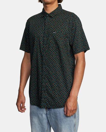 3 Pure Joy Short Sleeve Shirt Black AVYWT00197 RVCA