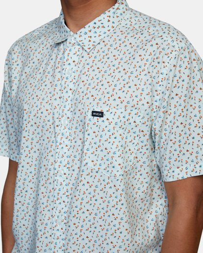 4 Pure Joy Short Sleeve Shirt Green AVYWT00197 RVCA