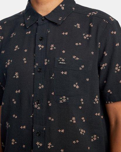 5 Falling Sakura Short Sleeve Shirt Black AVYWT00198 RVCA