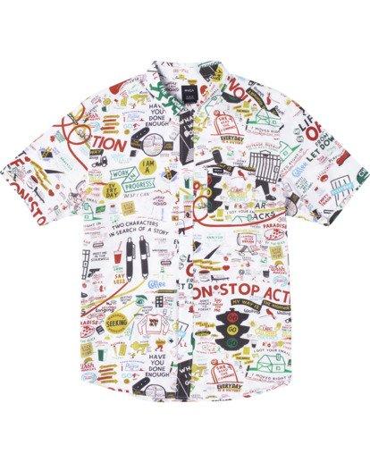 0 Espo Short Sleeve Shirt White AVYWT00201 RVCA