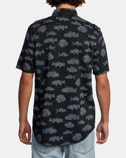 2 Ben Horton | Dead Fish Short Sleeve Shirt Black AVYWT00205 RVCA