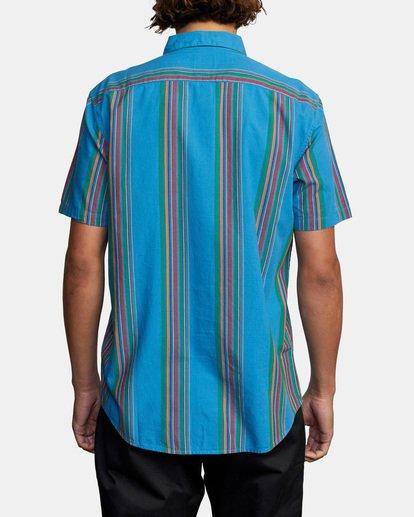 2 El Rosario Stripe Short Sleeve Shirt Blue AVYWT00207 RVCA