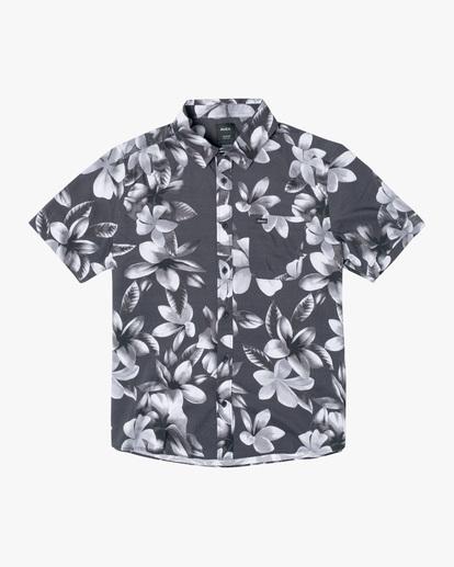 0 Lanai Floral Short Sleeve Shirt Black AVYWT00209 RVCA