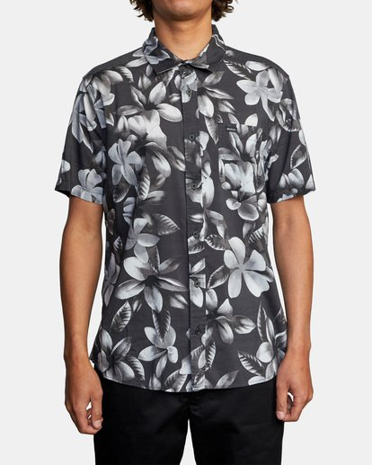 1 Lanai Floral Short Sleeve Shirt Black AVYWT00209 RVCA