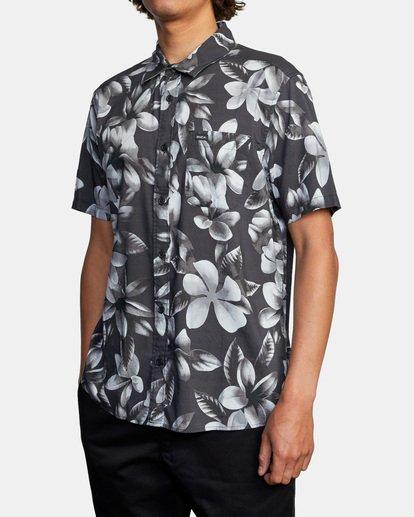 3 Lanai Floral Short Sleeve Shirt Black AVYWT00209 RVCA