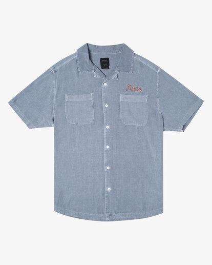 0 Evan Mock | W 16th St. Short Sleeve Shirt Grey AVYWT00213 RVCA
