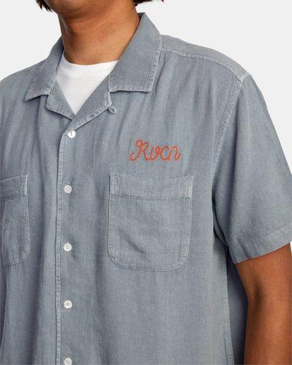 3 Evan Mock | W 16th St. Short Sleeve Shirt Grey AVYWT00213 RVCA