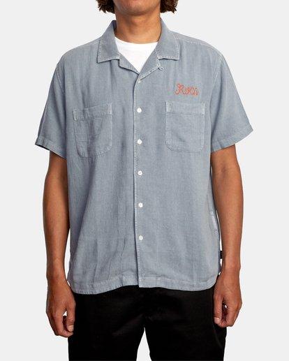 1 Evan Mock | W 16th St. Short Sleeve Shirt Grey AVYWT00213 RVCA