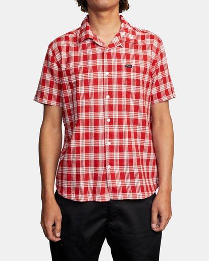 1 Evan Mock   Palaka Short Sleeve Shirt Brown AVYWT00217 RVCA