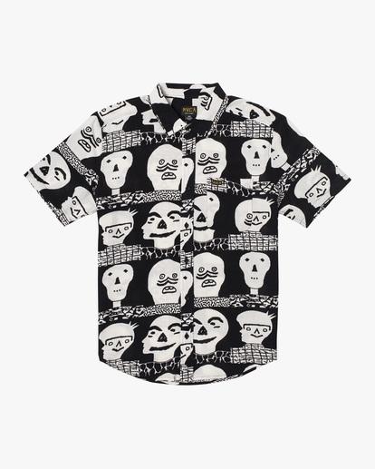 0 Matt Leines   Leines Short Sleeve Shirt Black AVYWT00223 RVCA