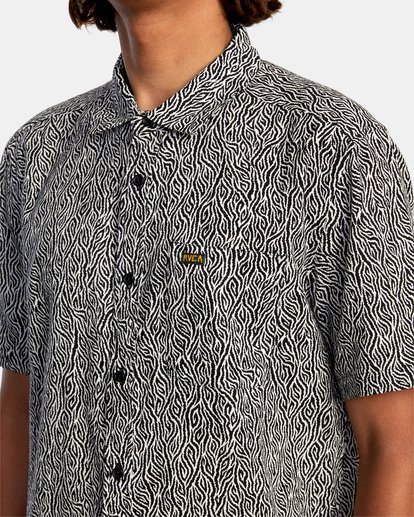 3 Matt Leines | Leines Short Sleeve Shirt Black AVYWT00223 RVCA