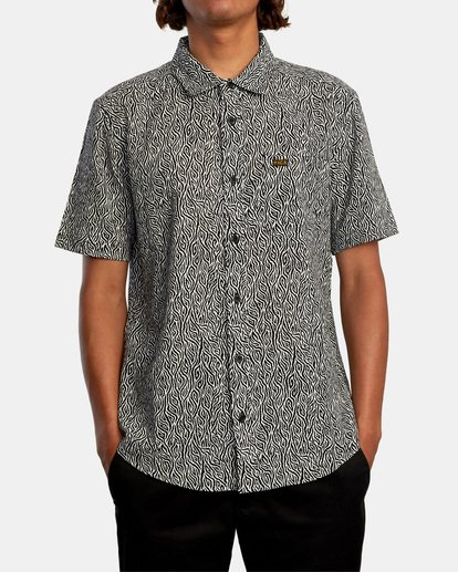 1 Matt Leines | Leines Short Sleeve Shirt Black AVYWT00223 RVCA