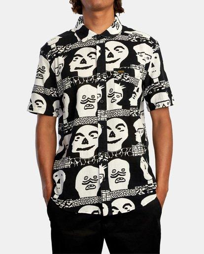 1 Matt Leines   Leines Short Sleeve Shirt Black AVYWT00223 RVCA