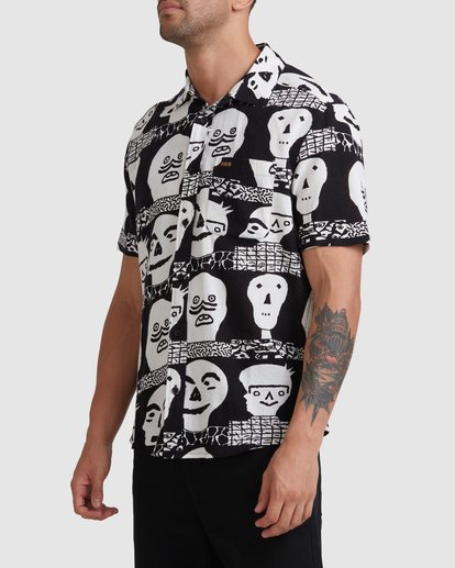 6 Matt Leines   Leines Short Sleeve Shirt Black AVYWT00223 RVCA