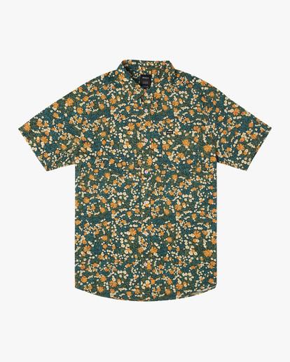 0 Baritone Short Sleeve Shirt Orange AVYWT00227 RVCA