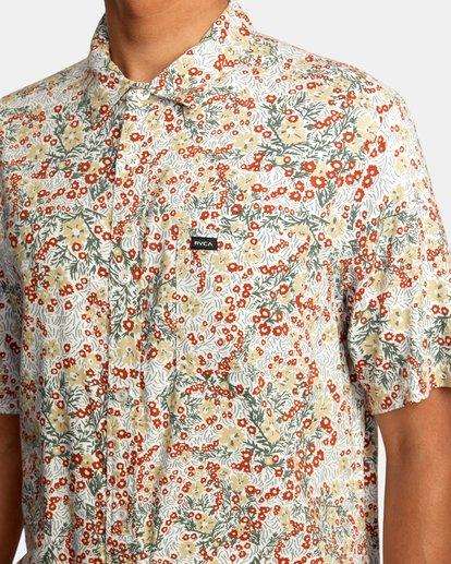 3 Baritone Short Sleeve Shirt White AVYWT00227 RVCA