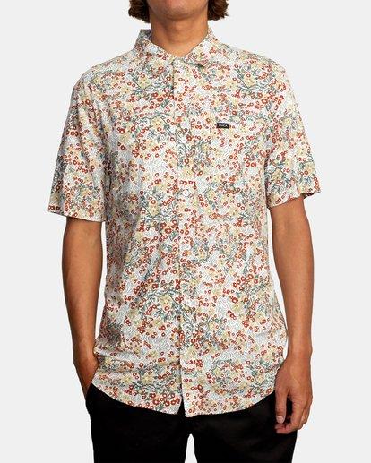 1 Baritone Short Sleeve Shirt White AVYWT00227 RVCA
