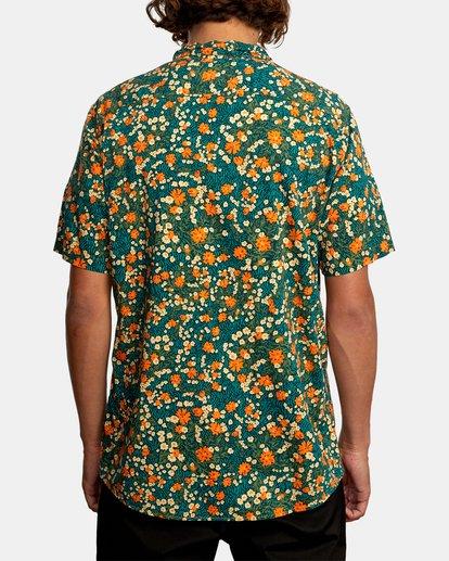2 Baritone Short Sleeve Shirt Orange AVYWT00227 RVCA