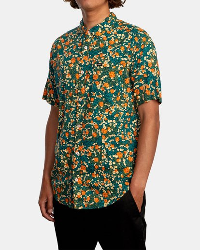 4 Baritone Short Sleeve Shirt Orange AVYWT00227 RVCA