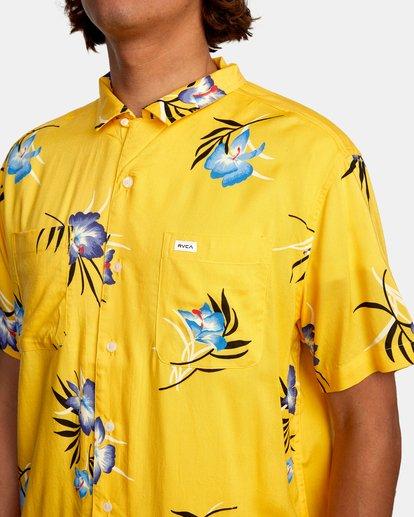 3 Cliffs Floral Short Sleeve Shirt White AVYWT00229 RVCA