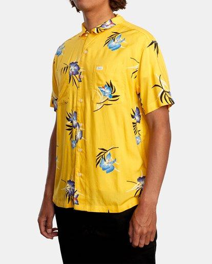 4 Cliffs Floral Short Sleeve Shirt White AVYWT00229 RVCA