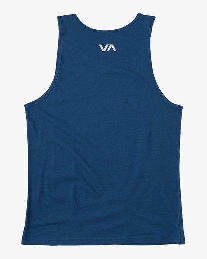 1 VA RVCA BLUR PERFORMANCE TANK TOP Blue AVYZT00181 RVCA