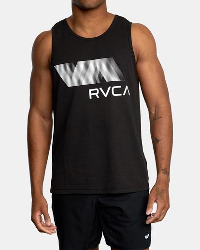 2 VA RVCA BLUR PERFORMANCE TANK TOP Black AVYZT00181 RVCA