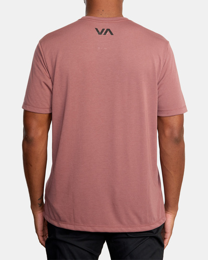 3 VA Sport   Icon Workout Shirt White AVYZT00184 RVCA