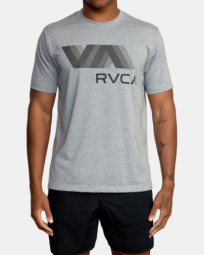 2 VA RVCA BLUR SHORT SLEEVE PERFORMANCE TEE Grey AVYZT00189 RVCA