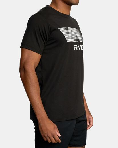 5 VA RVCA BLUR SHORT SLEEVE PERFORMANCE TEE Black AVYZT00189 RVCA