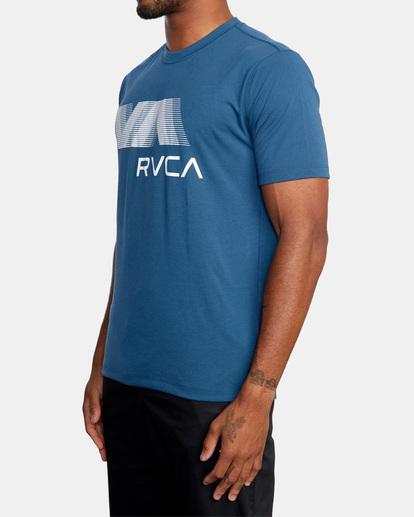 5 VA RVCA BLUR SHORT SLEEVE PERFORMANCE TEE Blue AVYZT00189 RVCA