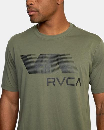 2 VA RVCA BLUR SHORT SLEEVE PERFORMANCE TEE Green AVYZT00189 RVCA