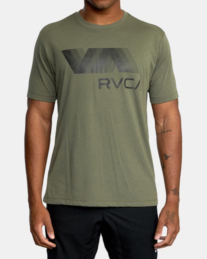 0 VA RVCA BLUR SHORT SLEEVE PERFORMANCE TEE Green AVYZT00189 RVCA