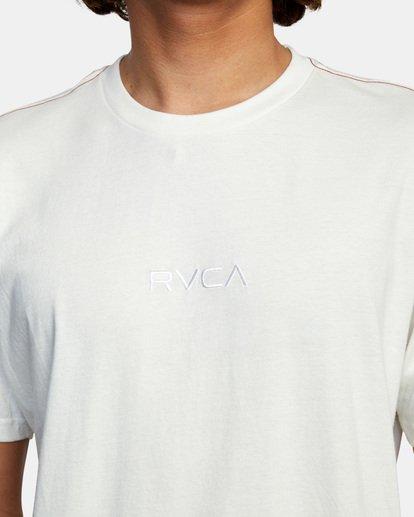 4 SMALL RVCA SHORT SLEEVE TEE White AVYZT00214 RVCA