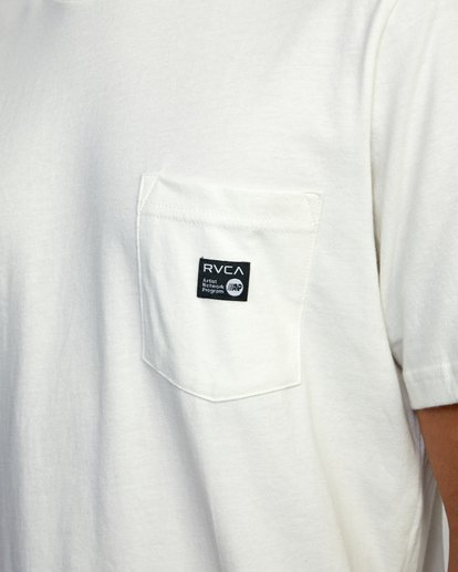 3 ANP SHORT SLEEVE POCKET TEE White AVYZT00216 RVCA
